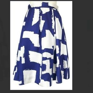 kate spade blue white lilith skirt size 10 nwot